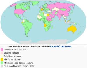 Internetová cenzura a dohled ve světě dle Reportérů bez hranic